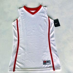 Nike White Basketball  Top .Size M .Girls NWT